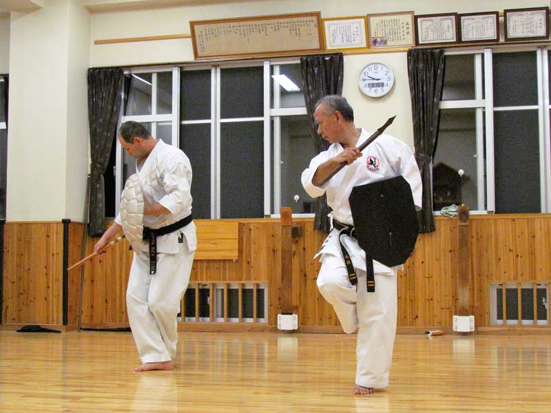 With Akamine Sensei at Shimbukan Okinawa