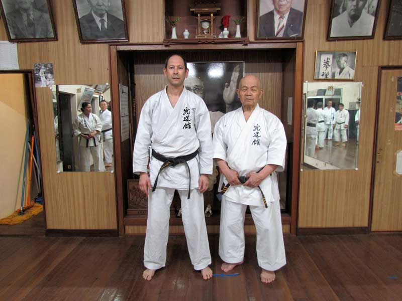 Itzik with Higa Sensei