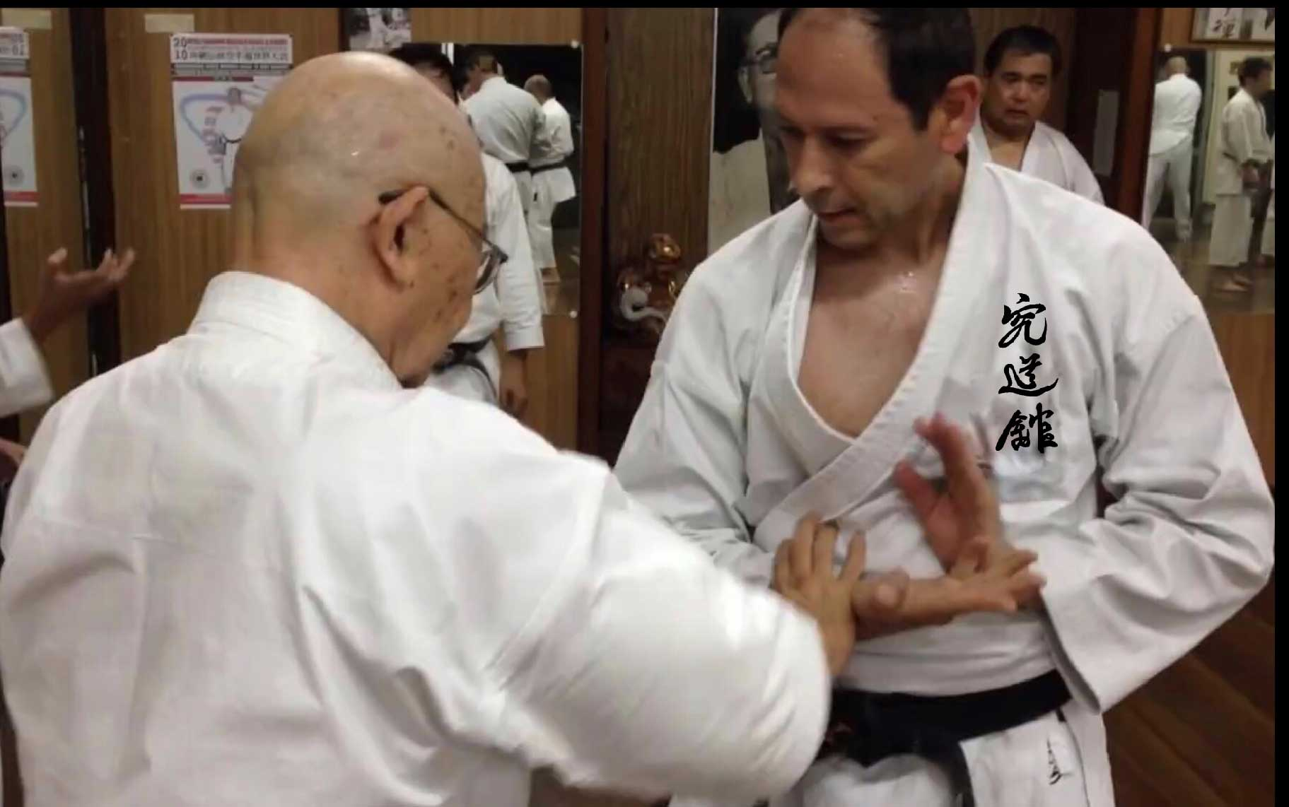 With Higa Sensei  at Kyudokan Okinawa